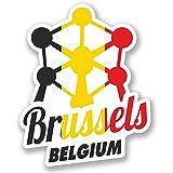 2 x 10cm/100mm Brüssel Belgien Vinyl SELBSTKLEBENDE STICKER Aufkleber Laptop reisen Gepäckwagen iPad Zeichen Spaß #4347