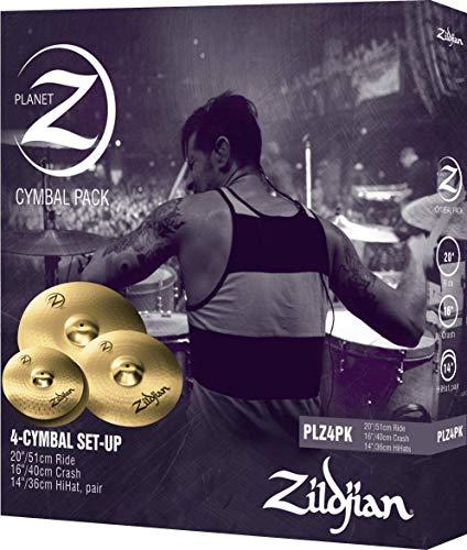 ZILDJIAN PLZ4PK Planet Z (4er Pack) bestehend aus Hats, Crash, Ride