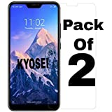 Kyosei Tempered Glass for Redmi 6 Pro(Pack of 2)(Slightly Smaller Due to Curved Edges)
