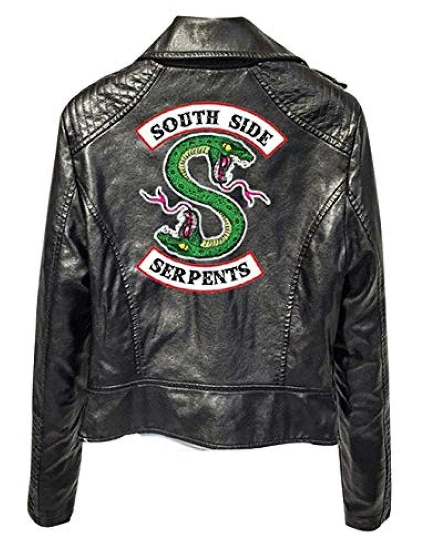f62d07aa45a71 Riverdale Veste en Cuir Serpent Femme Cuir Vernis Pull Chic Pas Cher ...