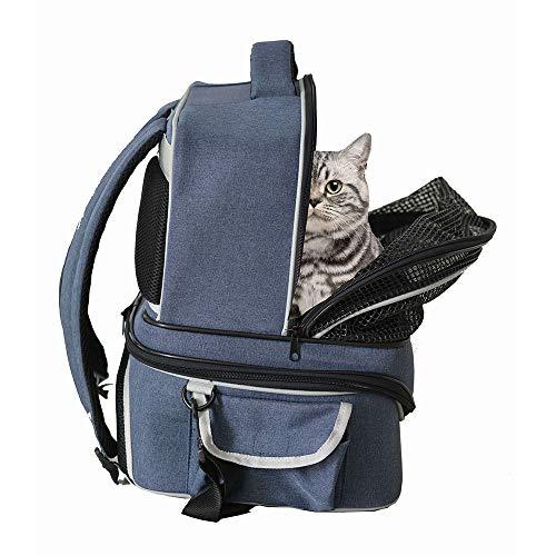 Galapara Haustier Transporttasche,Hundetasche für Kleine Hunde,Pet Carrier Rucksack Cat Carrier mit Mesh-Netting Pet Travel Atmungsaktive Tasche Seat Safe Carrier für Hunde Katzen (Rucksack Netting)