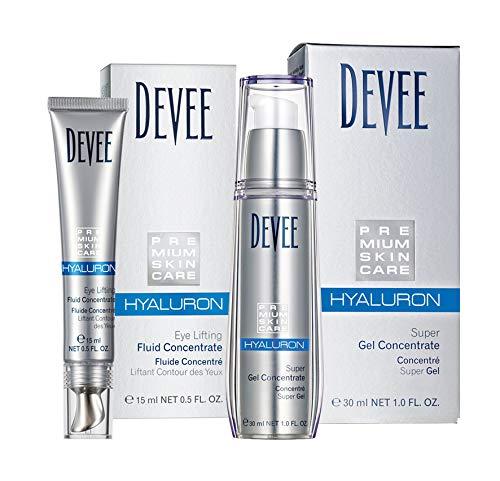 Devee Hyaluron Gel + Devee Hyaluron Augenfluid Lifting Concentrate - Sparset - By Beauty & Legwear Store