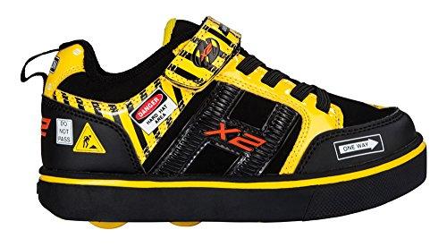 Heelys Unisex-Kinder Bolt Sneakers Mehrfarbig (Black / Yellow Caution)