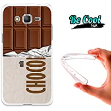 Becool® Fun - Funda Gel Flexible para Samsung Galaxy Grand Prime .Carcasa TPU fabricada con la mejor Silicona, protege y se adapta a la perfección a tu Smartphone y con nuestro diseño exclusivo Tableta de chocolate