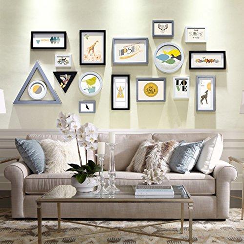 Rahmen Deko Foto Wand Kreative Kombination von Modernen Minimalistischen Wohnzimmer Schlafzimmer Foto Wand Massivholz Wall decoratiophoto a