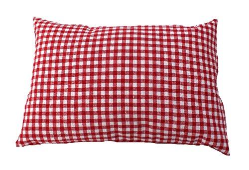 Zirbenkissen rot kariert befüllt mit Zirbenspänen aus 100% Alpen Zirbenholz 30x20 cm (Karo)