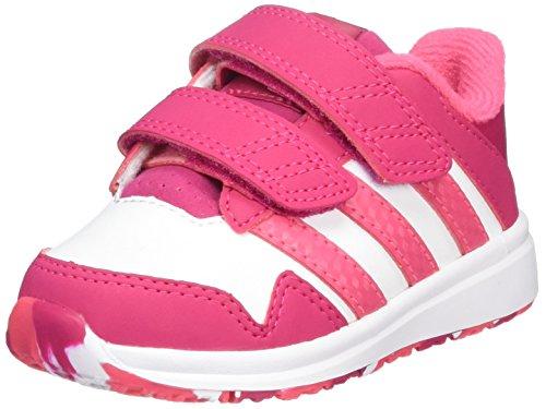 adidas  Snice 4 Cf I, Jungen Laufschuhe, Multicolor - Blanco / Rosa - Größe: 23
