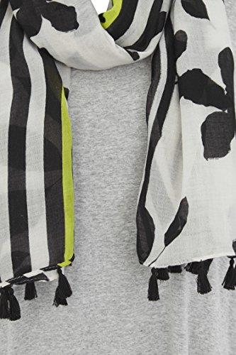 Roman Originals Damen Oversized Jersey Top Mit Schal Grau Silver Grey