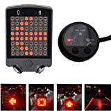 MeOkey Bike Turn Signals Lights, Waterproof LED Cycling Rear Tail Light For Bicycles