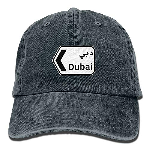 IEHFE MCNXB Men Women Classic Denim Dubai Adjustable Baseball Cap Dad Hat Low Profile Perfect for Outdoor (Knit Classic Golf)
