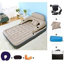 Meter gris 190 * 120CM + bomba eléctrica Cama de colchón de aire cama inflable cama doble inflable con solo colchones plegables cama portátil al aire libre espesada