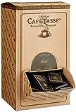 Café Tasse Dunkle Schokolade / Zartbitter, 60 prozent Kakao - Mini Schokoladentafeln (9g) in einer dekorativen Karton-Schütte, 1er Pack (1 x 1.5 kg)