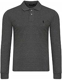 Ralph Lauren - T-Shirt à manches longues - Uni - Uni - Col Chemise Classique - Homme