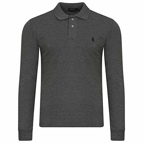 Ralph Lauren Men's Polo Shirt. Long Sleeve. Small Pony. Custom Fit