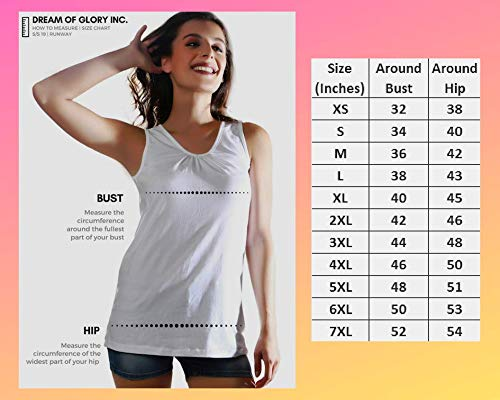 Dream of Glory Inc. Plus Size Women's Super Soft Cotton Comfort Shirred V-Neck Sleeveless Tank Top : XS - 7XL (Pack of 1)