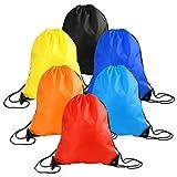 WXJ13 6 pièces Cordon de serrage Sac fourre-tout Cinch Gym Sacs de stockage de sac à dos