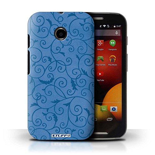 Kobalt® Imprimé Etui / Coque pour Motorola Moto E (2014) / Rose conception / Série Motif de la vigne Bleu