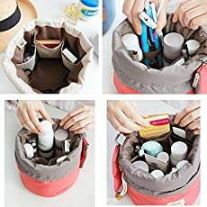 ShoppoZone Bucket Barrel Shaped Travel Dresser Pouch Cosmetic Makeup Bag For Girl