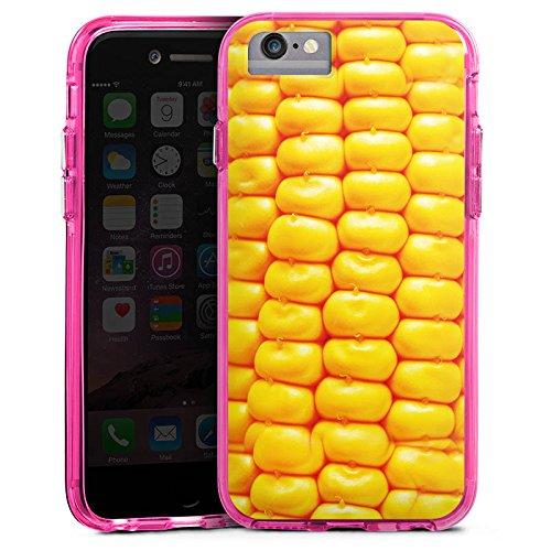 Apple iPhone 8 Bumper Hülle Bumper Case Glitzer Hülle Mais Bbq Grillen Bumper Case transparent pink