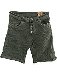 Itaimaska Damen Shorts Pailletten Jeansshorts Bermuda 34 36 38 40 42 Blau  Grau Grün Schwarz Weiß d210488d63