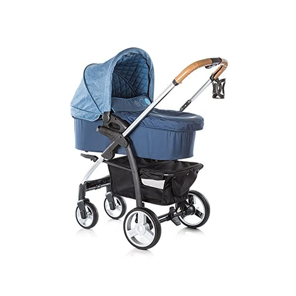 Chipolino Baby Stroller and Carry Cot Avenue, Navy Chipolino Can also be transformed into a carry cot Comfortable upholstered carrycot with mattress and carry handle Single front swivel lockable wheels 3