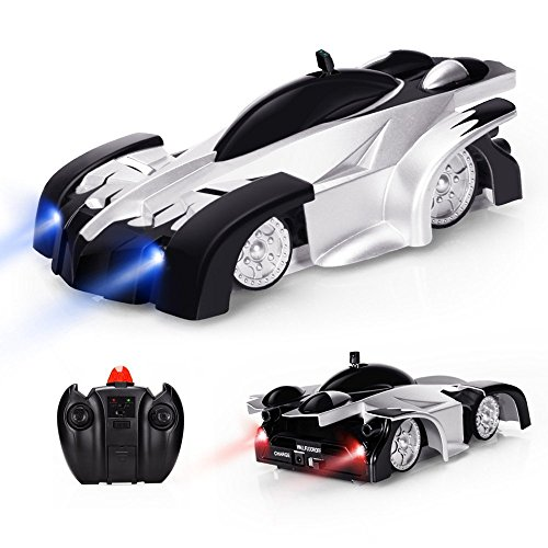 Baztoy Remote Control Car Kids Toys Wall RC Car Game Dual Modes 360°Rotation Gifts for Boys Girls Teenager-Black