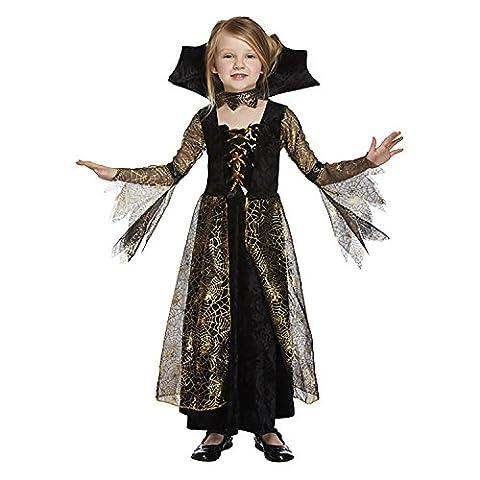 Salveo Filles Spiderella Vampire araignée sorcière Halloween Costume robe pour