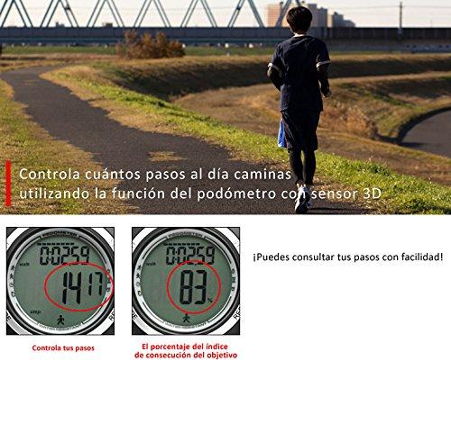 Lad Weather Podómetro Cronómetro Calorías Monitor de Actividad Física Reloj Running Fitness Deportes al Aire Libre