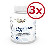 3er Pack Vita World L-Tryptophan 1000mg 3 x 120 Tabletten L Tryptophan Aminosäure Serotonin