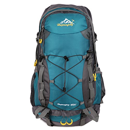 HWJIANFENG Zaino 40L da Trekking Outdoor da Uomo e Donna Zaino Nylon Impermeabile per Alpinismo Escursionismo Corsa Campeggio Montagna