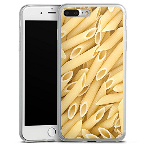 Apple iPhone 8 Plus Slim Case Silikon Hülle Schutzhülle Nudeln Penne Food Silikon Slim Case transparent