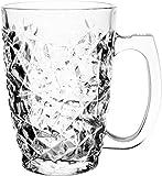 Soogo Austin Glass Beer Mug Set, 380 ml, 2-Pieces, Transparent