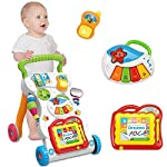 Sit-to-Stand Learning Walker Tenlso Baby Walking Toys,Push Pull Toys - Adjust Speed, Non-Slip, Prevention O-Leg With...