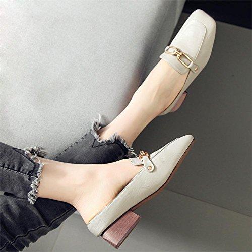 Sommer weibliche kühle Pantoffeln, dick mit weiblichen Sandalen Baotou faul Halbschuhe beiläufige Schuhe der Frauen Grey
