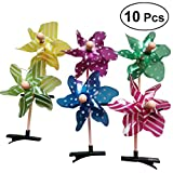 10pcs niños molinos de viento horquilla creativo lindo molinos de viento pinza de pelo chica traje de accesorios para el cabello (surtidos)