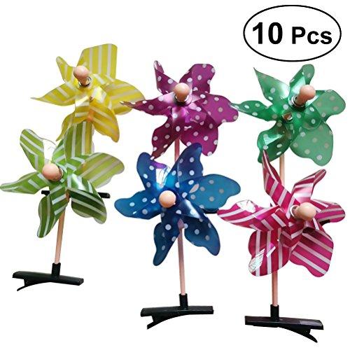 frcolor 100Windmühlen Haar Clip Cute Haar Alligator Clip Haarspangen Haarspange für Kinder Kleinkind (unterschiedliche ()
