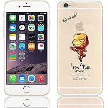 EatMyCase - Carcasa ultradelgada para varios modelos de iPhone, diseño de superhéroe Bane, Iron Man, iPhone 6 plus/6s plus