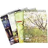 Trifycore Micro-Perforated A4 Artist Series Sketchbook Universal Paper Sketch Pad Art Painting Graffiti Picture Book Drawing Hand-painted Book for Pencil and Charcoal Van Gogh Oil Painting Cover Random, Art Painting Book