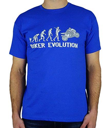Motorbike/Superbike Moto Gp Evolution - Regalo de cumpleaños divertida moto/presente para hombre de la camiseta Azul Rey M