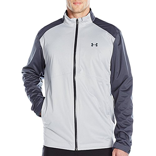 Under Armour 2016 Mens UA Golf Storm 3 Rain Jacket Water Repellent Full Zip