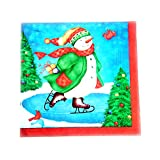 #2: Ezee Skating Snowman Printed Tissues 3 Ply - 100 Pieces