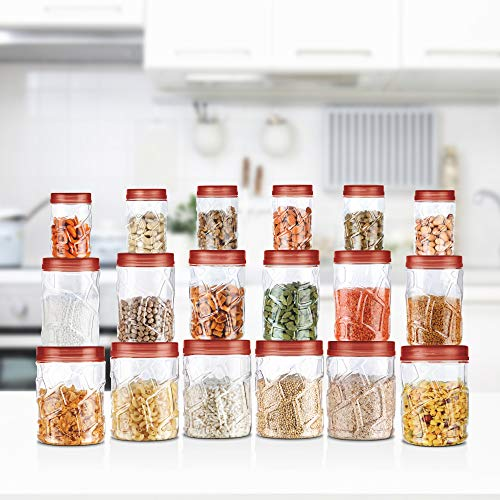 Milton Vitro Plastic Jar Set, 18- Pieces, Transparent