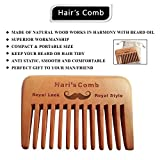 Hari's Bartkamm - Natürliche Amoora Holztasche Bartkamm Hand Made mit FREIER Baumwolltasche - Ideal für männliche Bartpflege