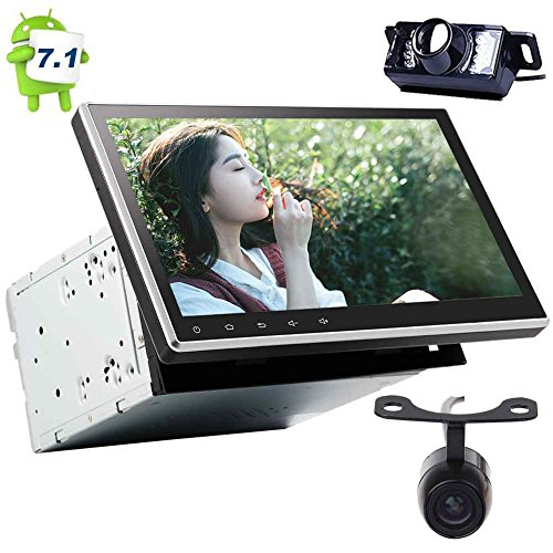 EINCAR Android 7.1 Auto DVD-Player Doppel-DIN-10.1 '' Auto-Stereo mit 1024 * 600 kapazitiven Touchscreen im Schlag GPS-Navigation Auto-Radio-Empfänger-Unterstützung Bluetooth/WiFi / OBD2 / Spie (Auto-dvd-doppel-din-abnehmbare)