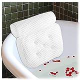 Ecooe Badewannenkissen Badewannen Kissen Komfort Badekissen mit 5 Saugnäpfen und