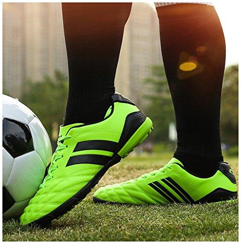 NEWZCERS Tf chaussures d'entraînement de football pour femmes et hommes et garçons et filles Vert