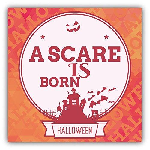 A Scare Is Born Halloween Slogan Hochwertigen Auto-Autoaufkleber 12 x 12 cm