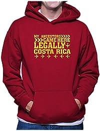 Teeburon MY ANCESTORS CAME HERE LEGALLY Costa Rica Sudadera con capucha