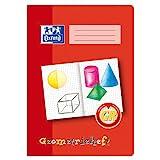 OXFORD 100050109 Geometrieheft Schule 10er Pack A4 16 Blatt Lineatur GR (Grundschule) Lernsysteme rot