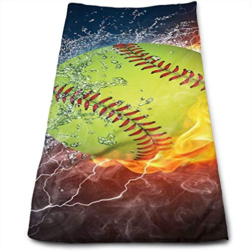Handtücher, Sporthandtuch, Multi-Purpose Microfiber Fast Drying Hand Towel Workout Face Towels with Fire Softball Customized Mouse Pad Rectangle Mouse Pad Gaming Mouse Mat MP2264 Pattern (Türkische Handtücher Bademantel)
